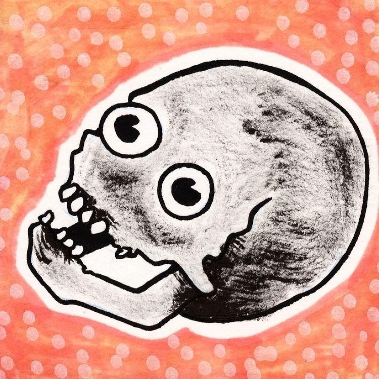 Happy skull - drawing, expresswaytoyourskull - donorbrain | ello