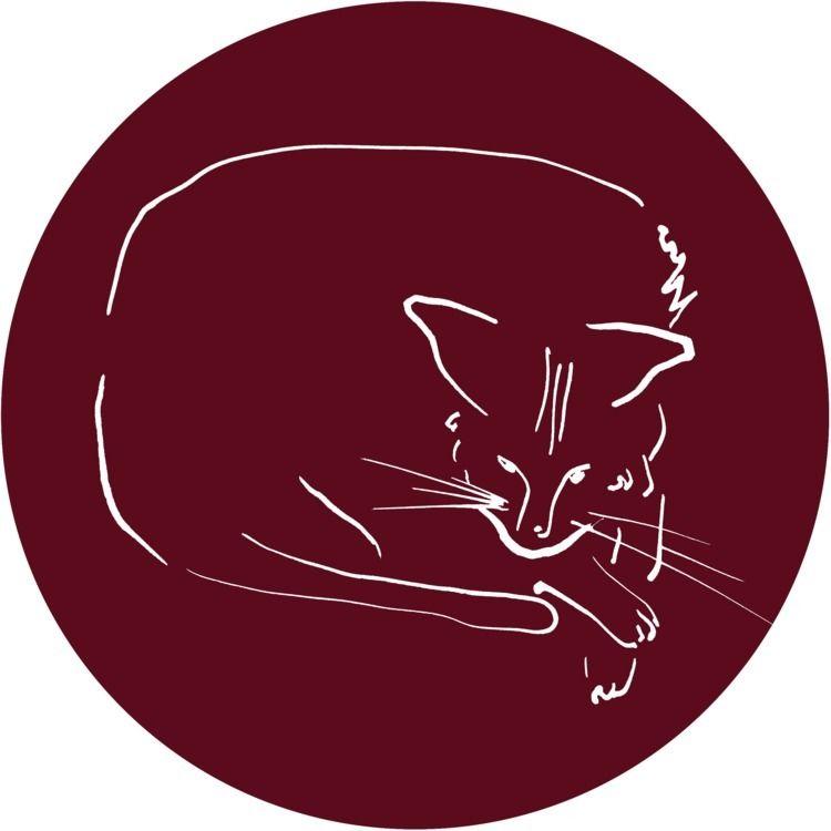 Relaxing Cat claret circle Digi - istvanocztos | ello