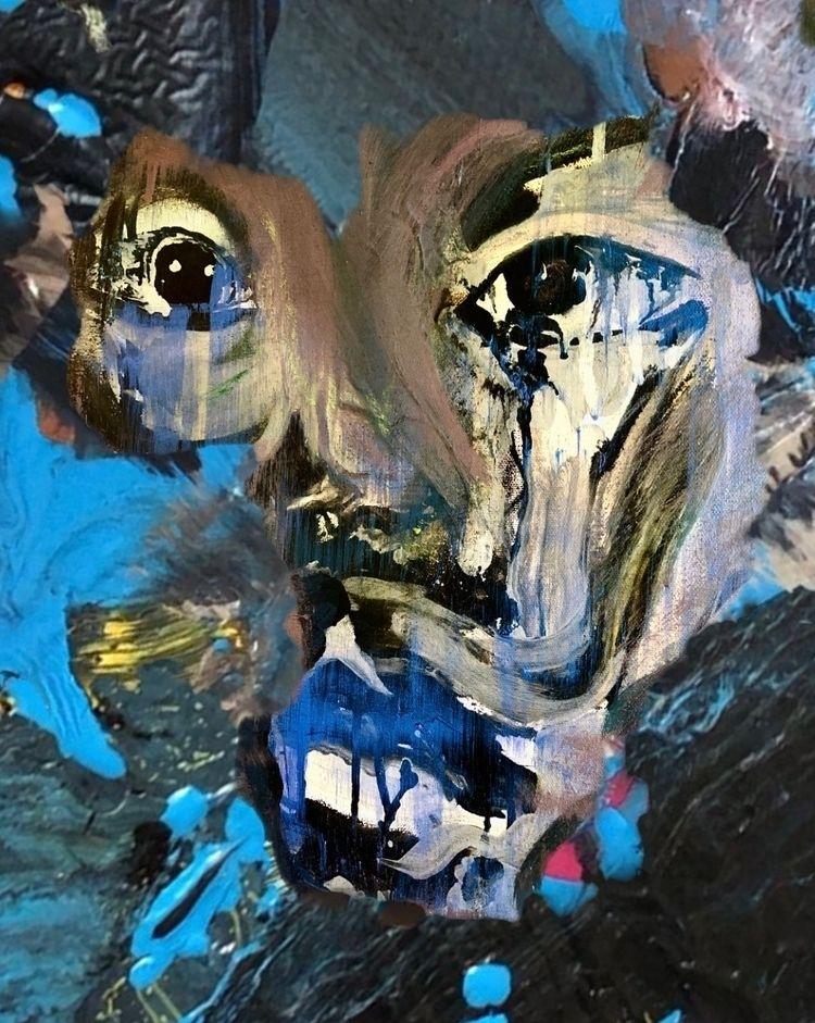 Portrait -acrylic canvas - sameldin   ello