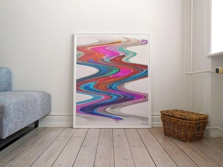 Wave Framed poster - art, digitalart - patriss | ello