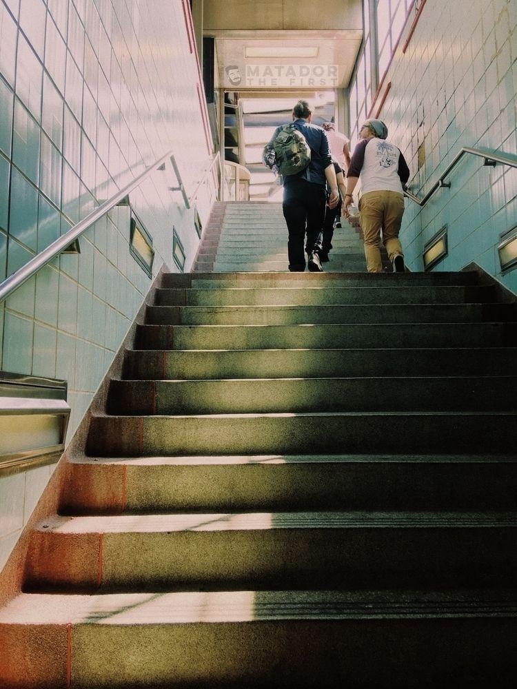 Short Sung  - subway, Chicago, stairs - matadorthefirst | ello