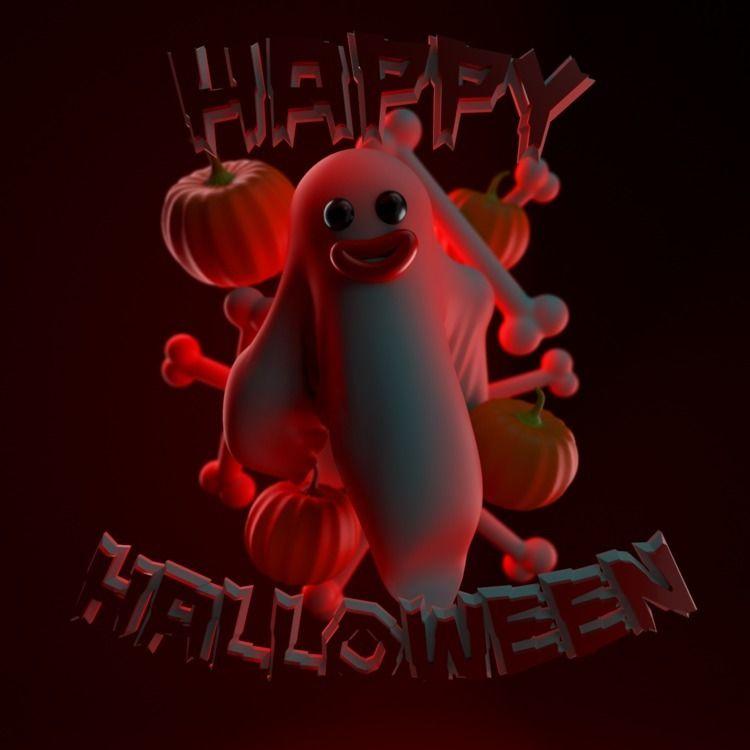 Happy Halloween - AbstractShiz, cinema4d - hashmukh | ello