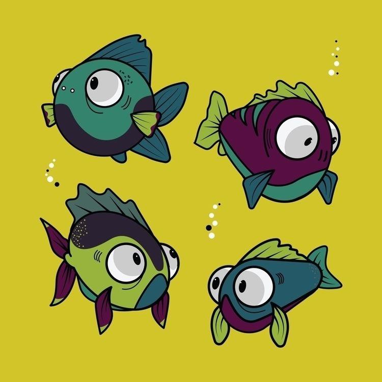 Glub glub - fish, illustration - dominikkalita | ello