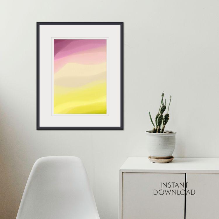 Pastel pink yellow printable di - artsbynaty | ello