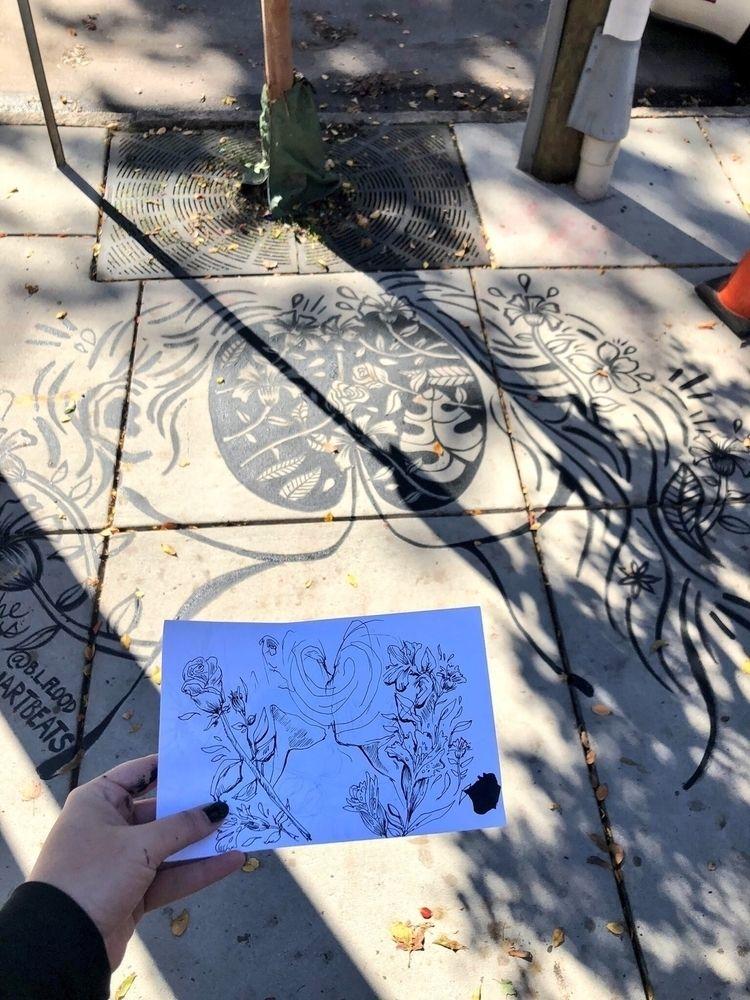 sidewalk mural progress glenwoo - blflood | ello