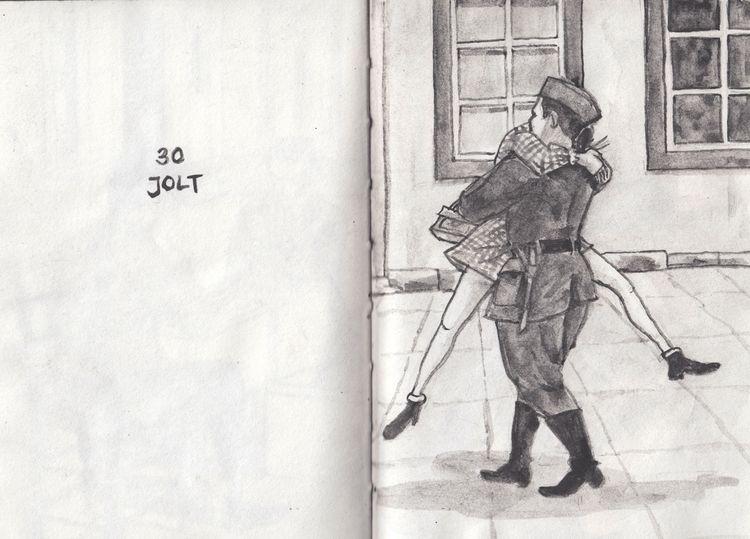 Inktober | 30 October 2018 Jolt - catsac | ello