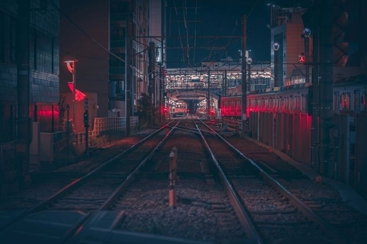 train line...  - jiyugaoka, 自由が丘 - fokality | ello
