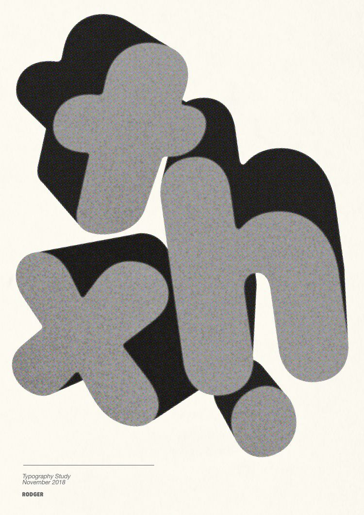 Typographic study Thx, Rodger - rodgerfont, - jamieansell | ello