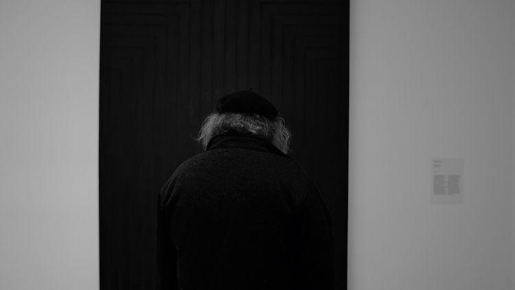 Man filled empty canvas Cologne - thanospal | ello