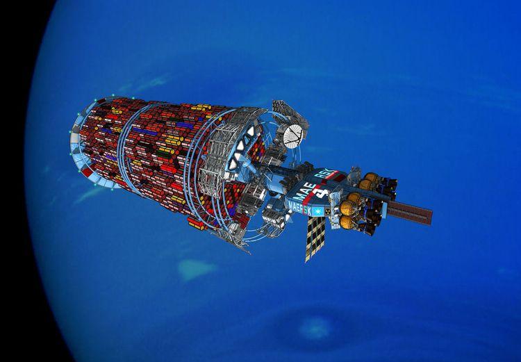 Maersk Line Orbital Tug ship Ne - scifi88 | ello
