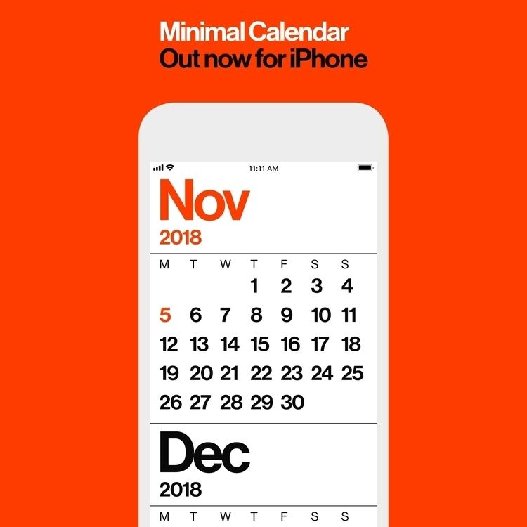 Minimal Calendar iPhone! years  - seanwolcott | ello