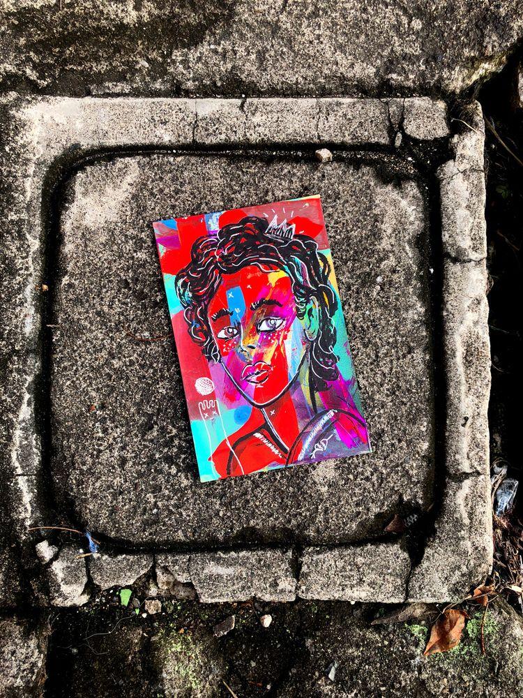 mixmediaart, elloillustration - hopeazul   ello