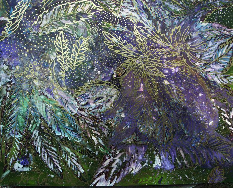 purple kush painting, imagine m - karensparkles | ello
