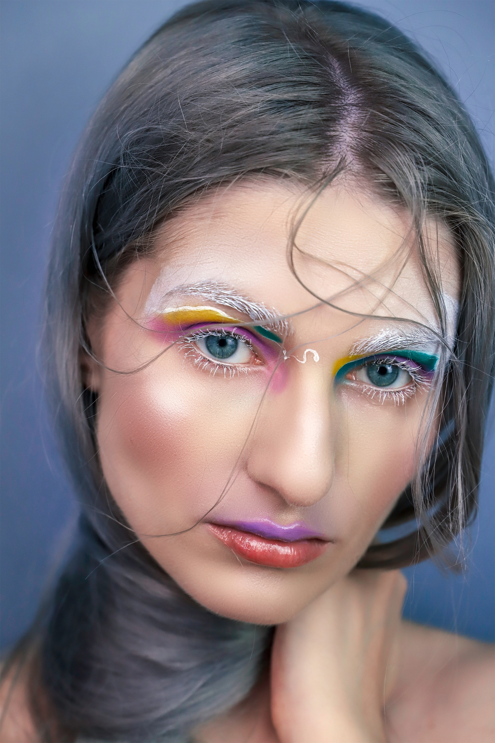 Make-up inspirowany obrazem. 'Light_of_Iris' by Georgia_O'Keeffe