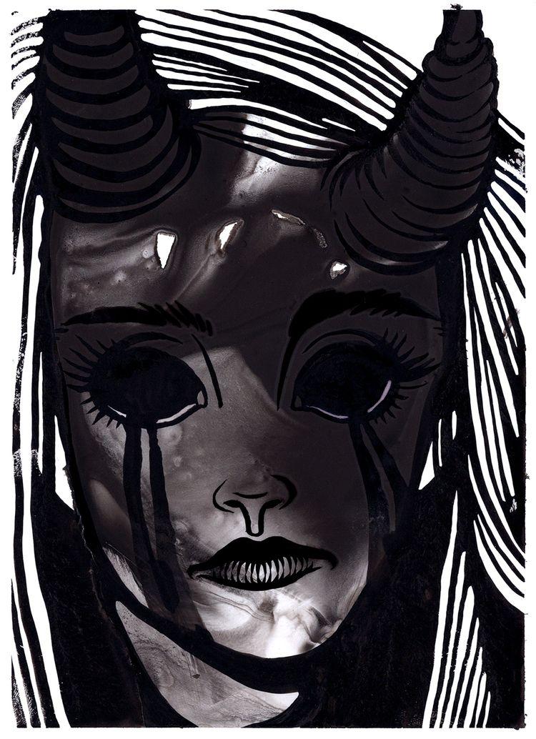 Inktober feeling - ink., demon, inktober - lilvoodoo | ello