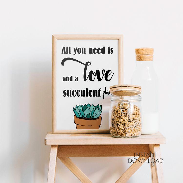 love succulent plant. Digital f - artsbynaty | ello