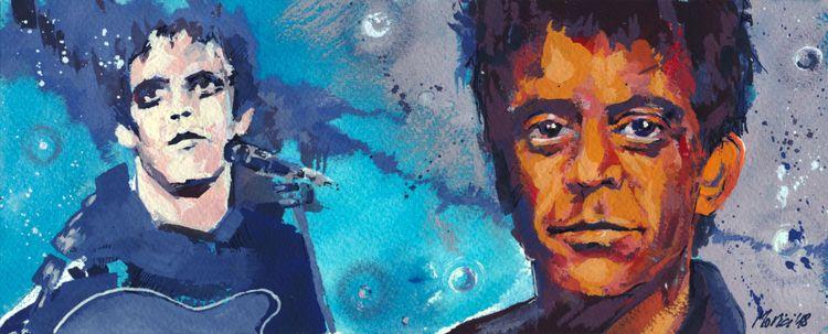 Lou Reed - acquerello (25x10cm - lucamorici | ello