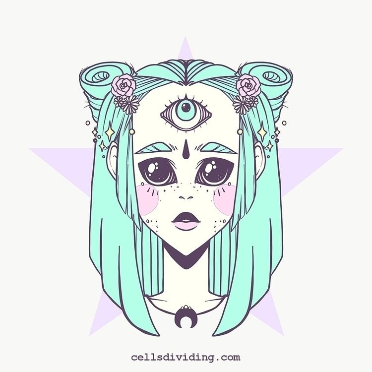 Weirdo anime girl eye vector ar - cellsdividing | ello