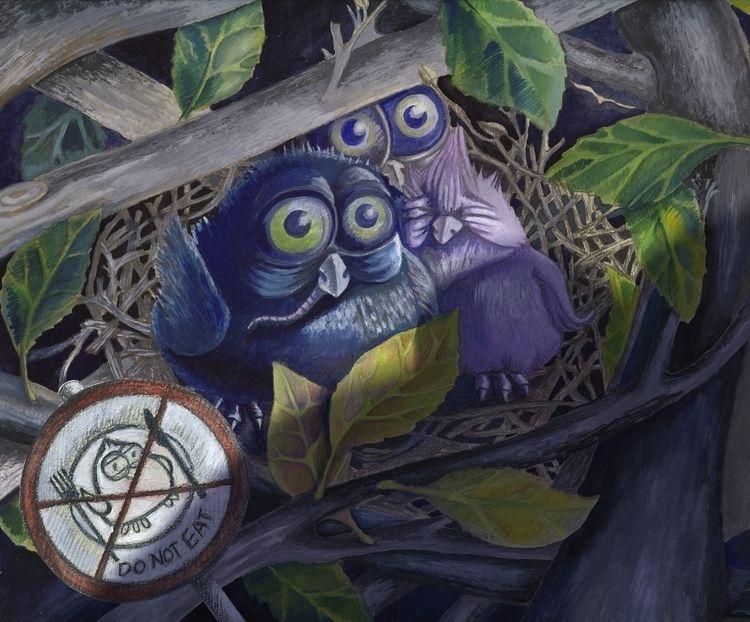 Eagle Owl (La Fontaine Tales - illustration - aja007 | ello