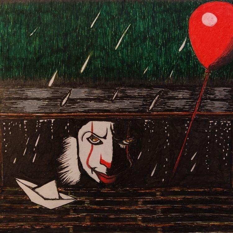 stephenking, pennywise, horror - felicity_art_uk | ello