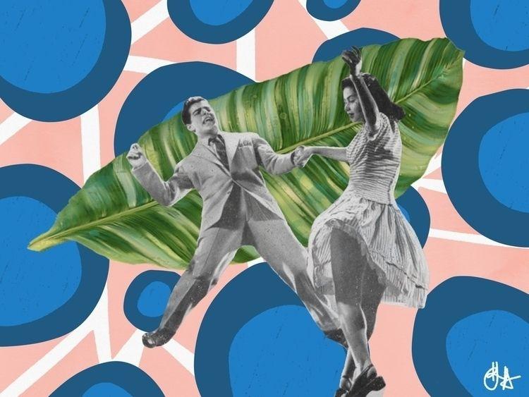 Midnight - dance, triangles, pink - annahruskova | ello