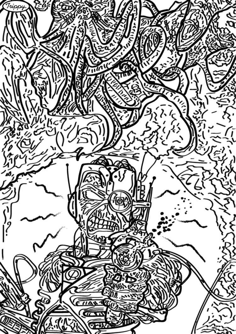 Iron Maiden Cthulhu Trippy - trippyholloway | ello