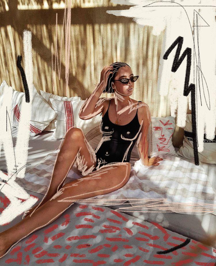 Model Dora Mahmic, art Paul Gue - paulguerrero   ello