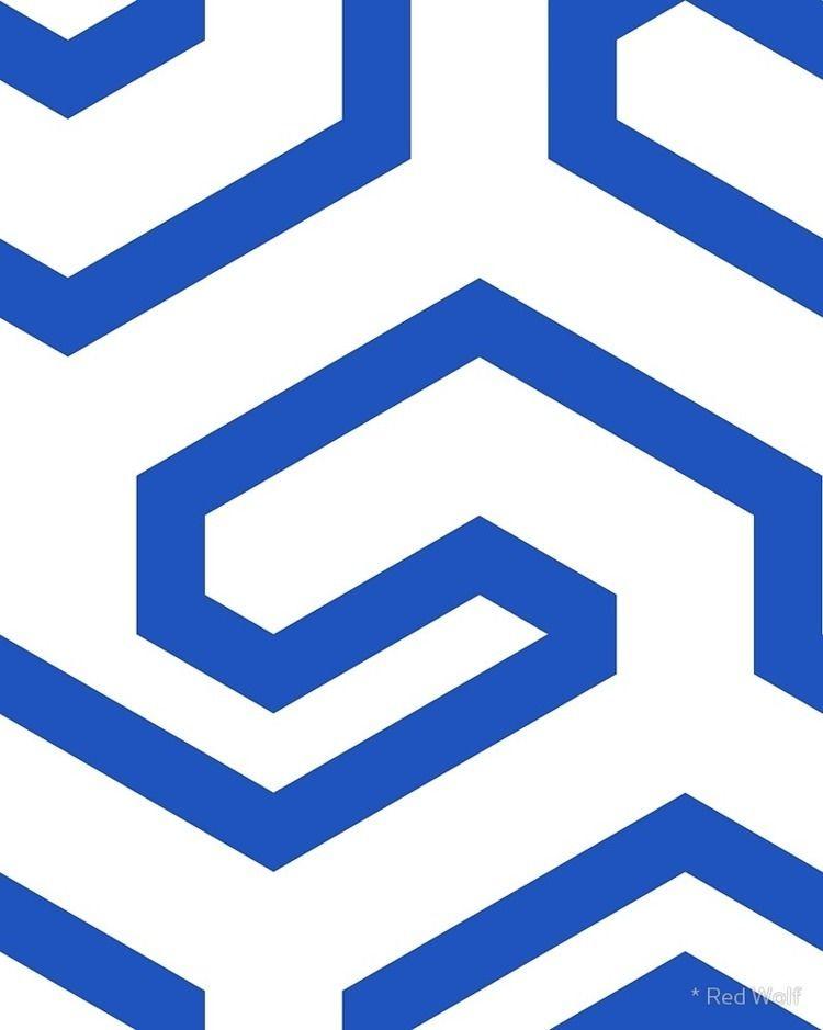 Geometric Pattern: Key Hook: Bl - red_wolf | ello