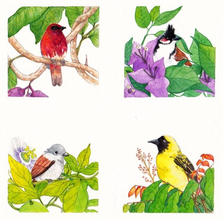 Birdy garden home yellow bird h - claireb | ello