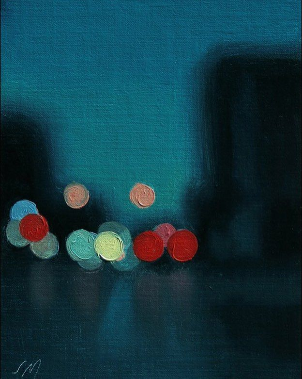 City Lights Oil Canvas, 2009 St - fantoche   ello