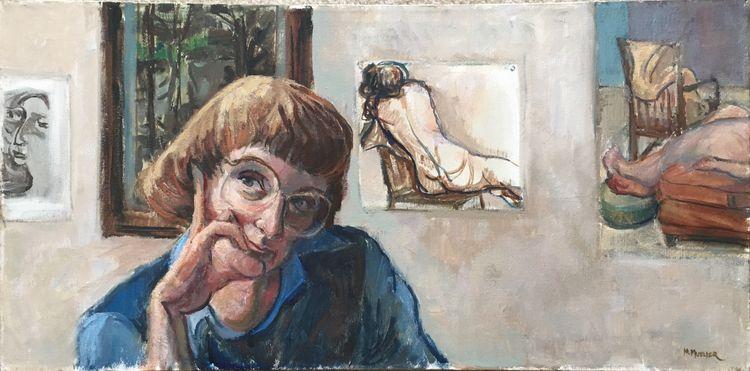 portrait, Marjorie Mueller - selfportrait - marjoriemueller   ello