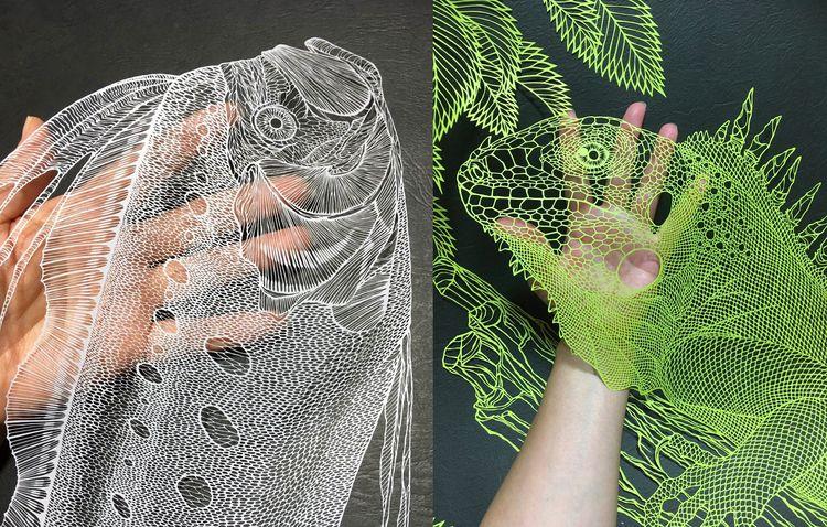 Japanese cut paper artist Riki  - decorkiki | ello