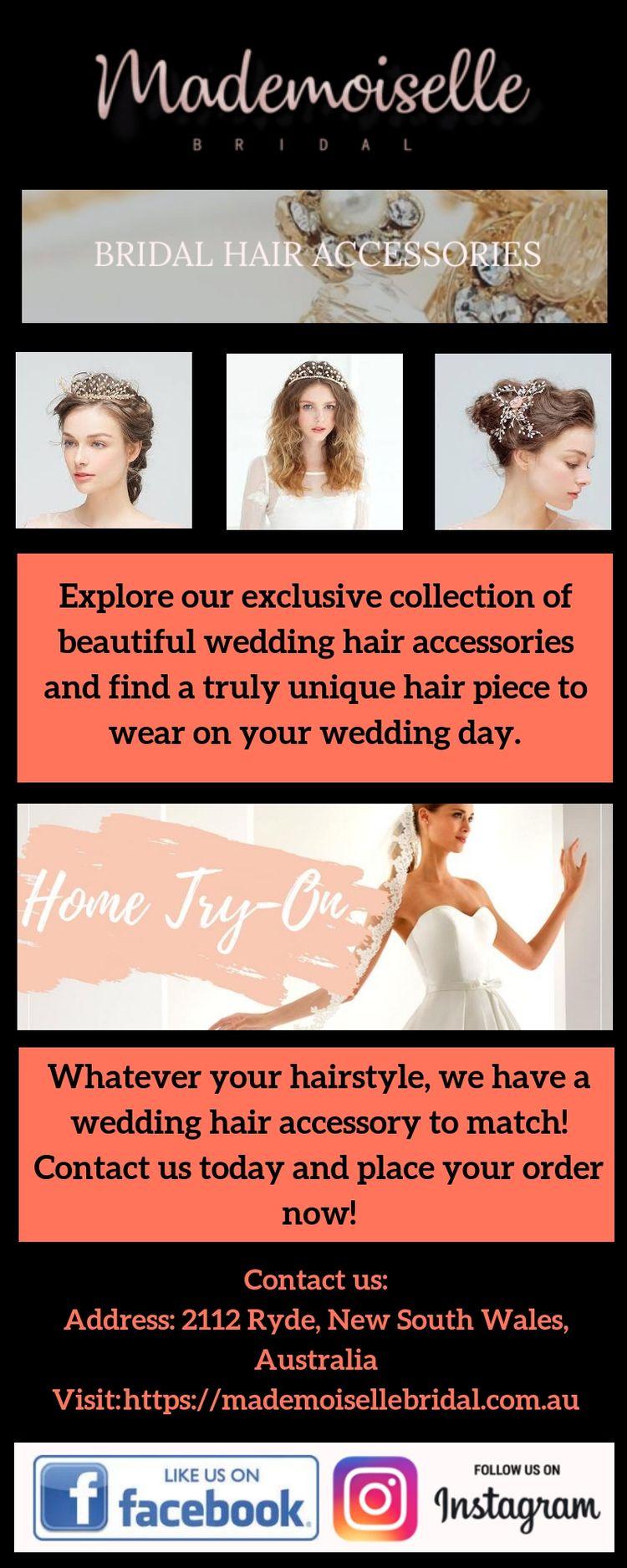 Wedding Hair Accessories - Made - mademoisellebridal   ello