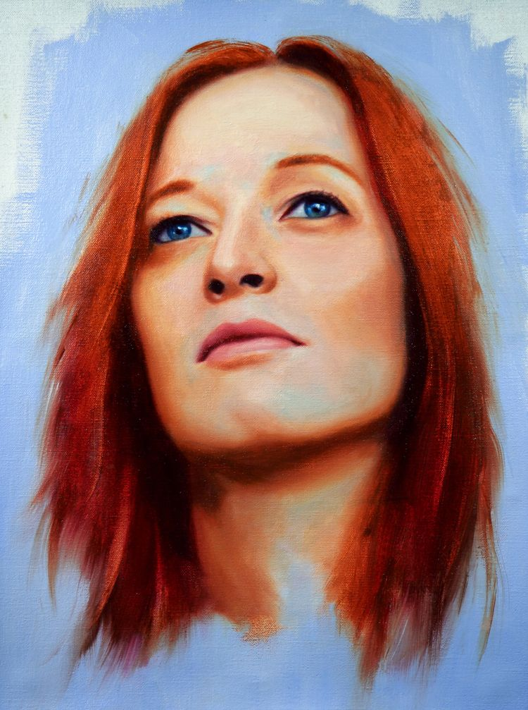 Orla Gartland Oil Linen 12x16 - portrait - danbullockart | ello