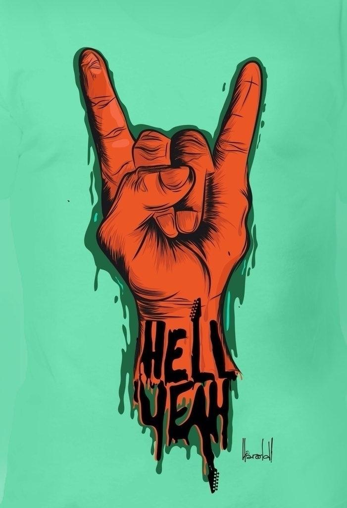 Hell yeah - illustration, heyHarold - heyharold | ello