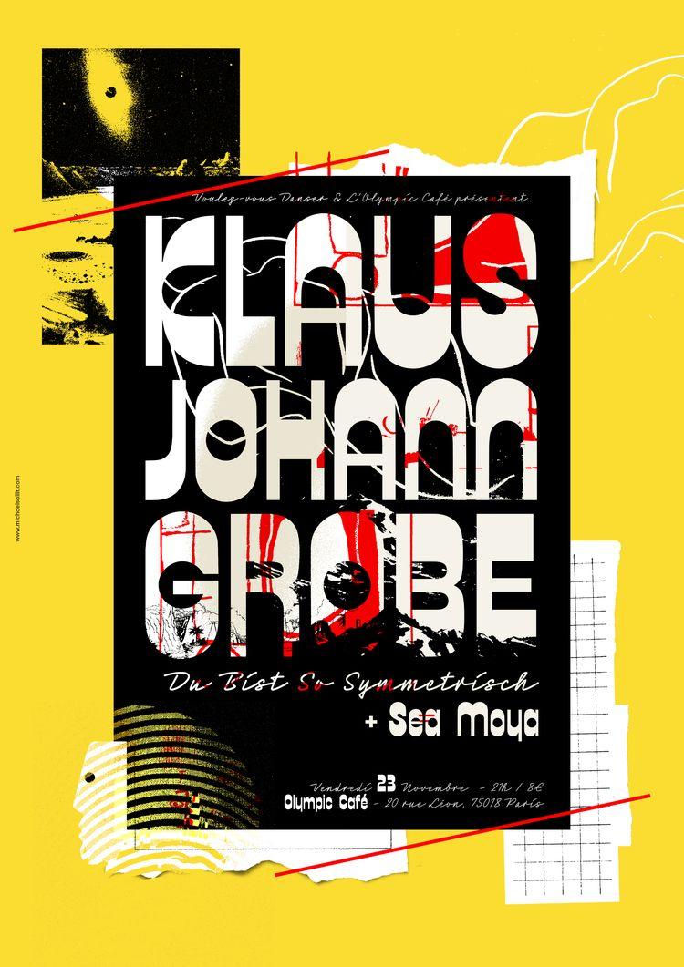 Klaus Johann Grobe gig poster - gigposter - michaelsallit | ello