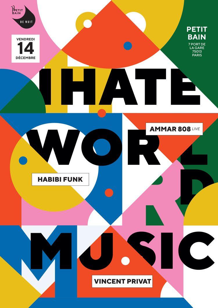 Gig Poster Hate World Music par - michaelsallit | ello