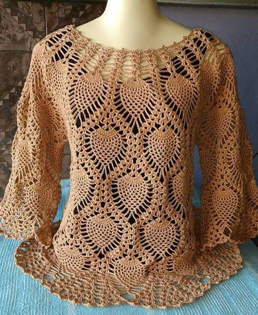 love blouse, crochet pattern. d - carlabreda | ello