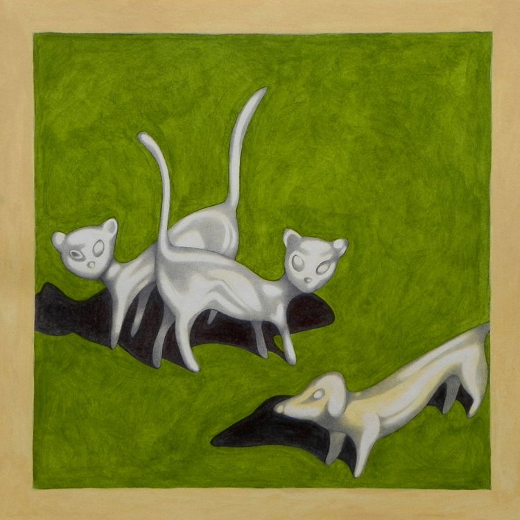 "DOG CATS. paintings series ""Sma - federicocortese 