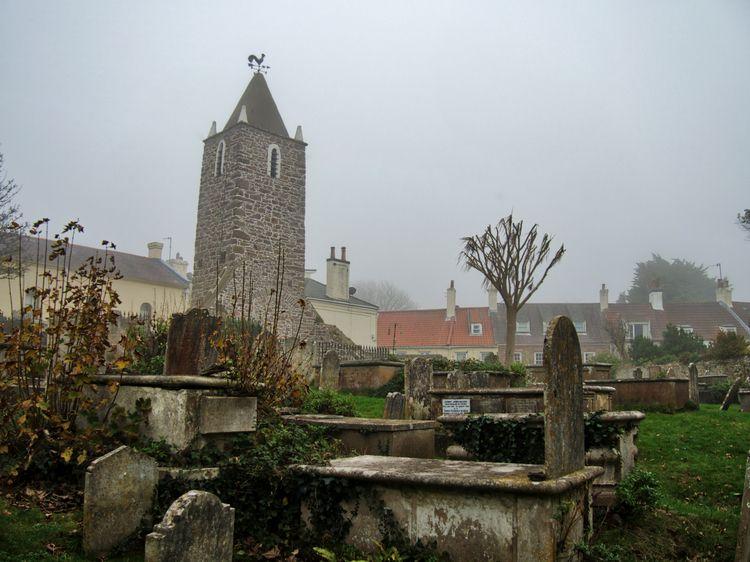 Fogged bell tower graveyard anc - neilhoward | ello