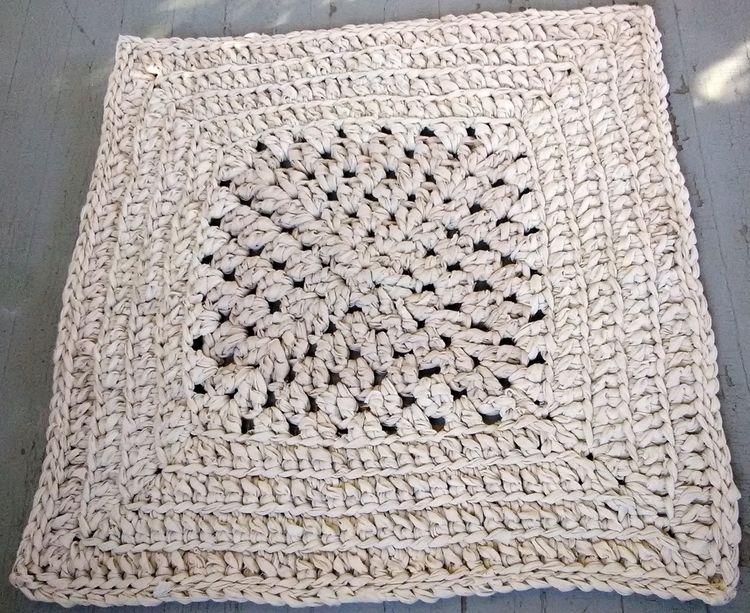 SOLD...Handmade Crochet Rag Rug - maryherrigfiberarts | ello