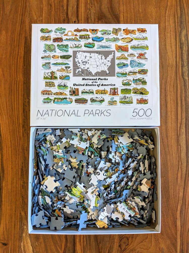 500 Piece National Parks Jigsaw - wearebrainstorm | ello