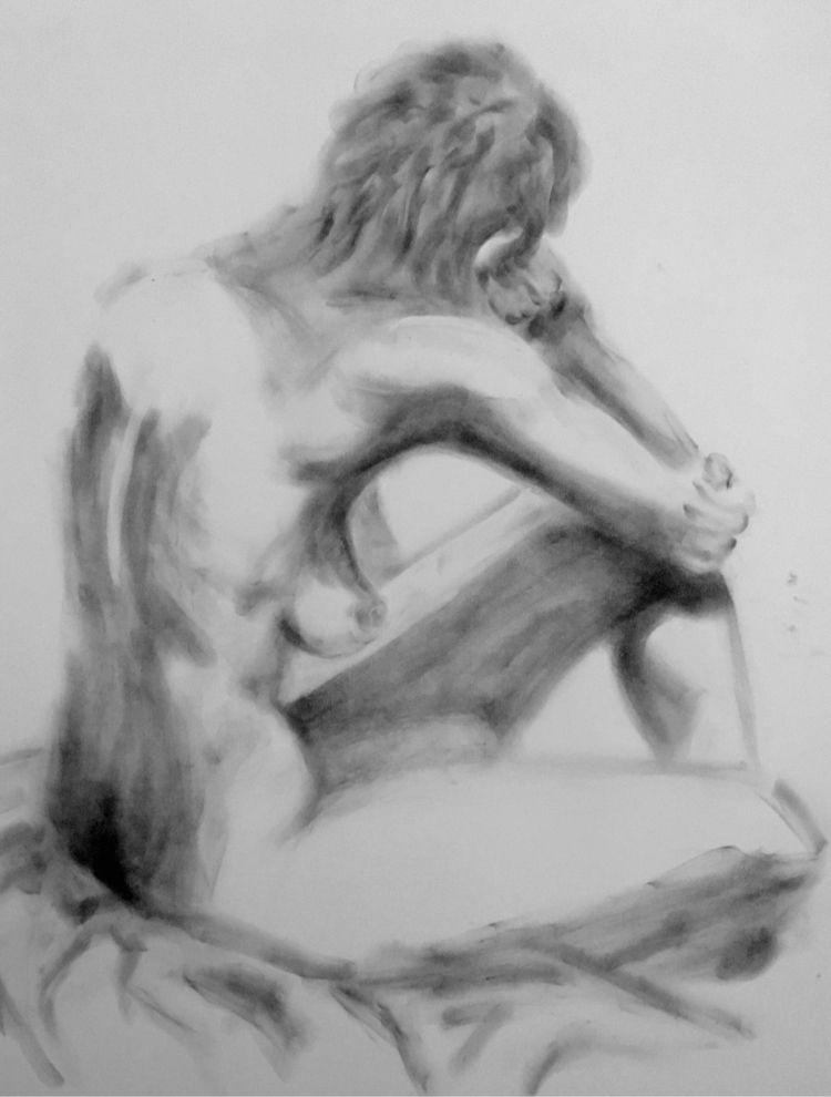 Charcoal - nude, model, charcoal - kr-lebeaulemieux | ello