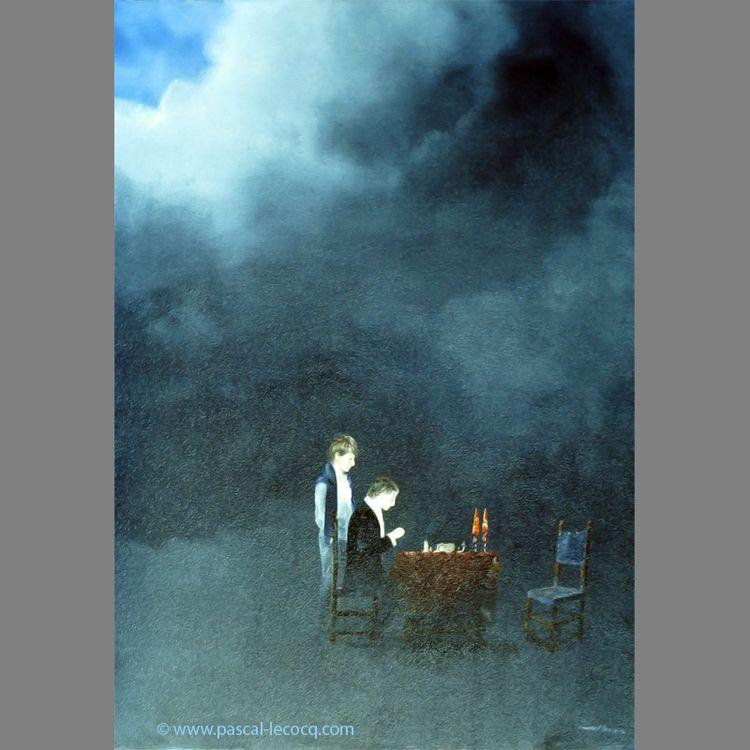 CHESS- oil canvas Pascal Lecocq - bluepainter | ello