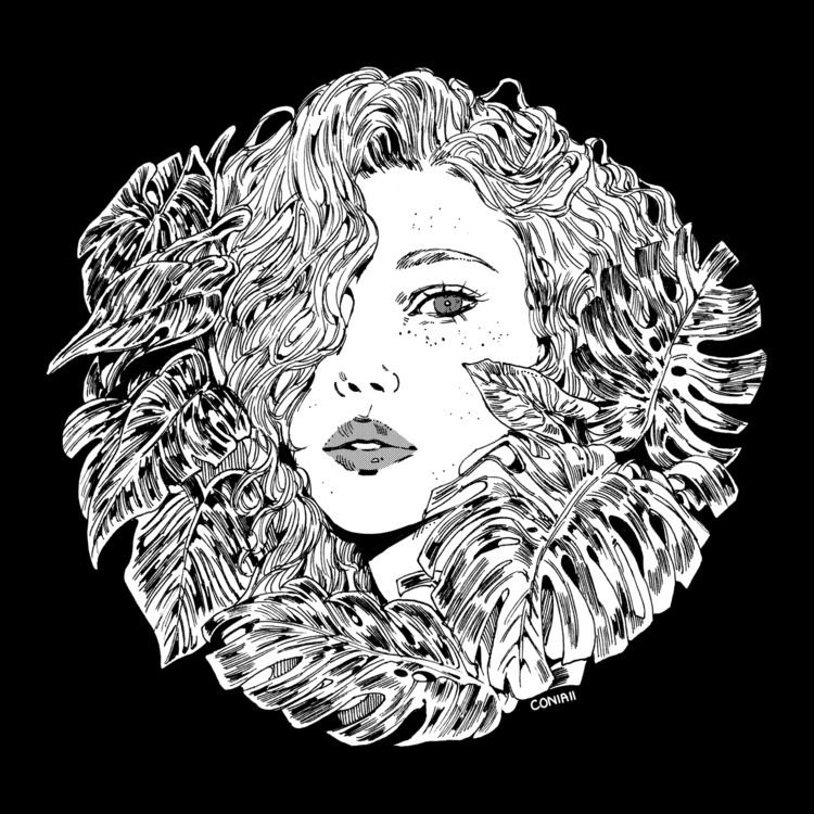 Flora - illustration, inktober, inktober2018 - coniaii | ello