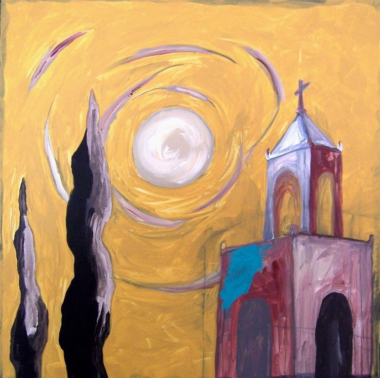 RED TOWER, YELLOW SKY ✚ San Mig - artisticojuancarlos | ello