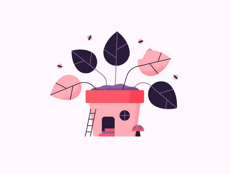 Pot House - cute, illustration, colour - jordkane   ello
