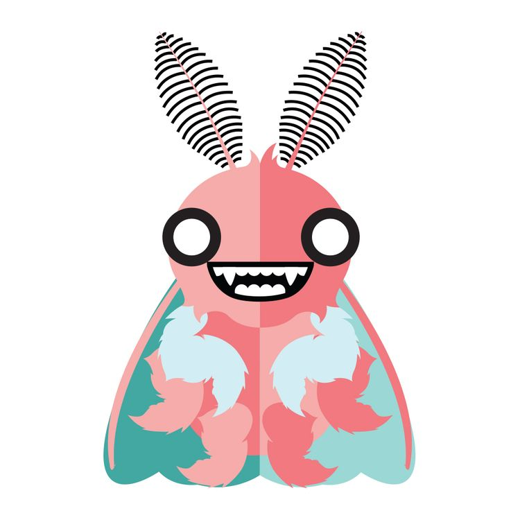 smiling moth - libedlulo | ello