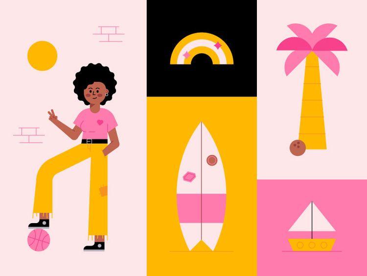 Summer - illustration, art, cute - jordkane | ello