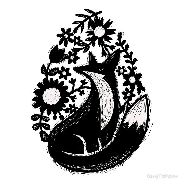 """Sunshine Fox Garden Flowers Li - littlebunnysunshine | ello"